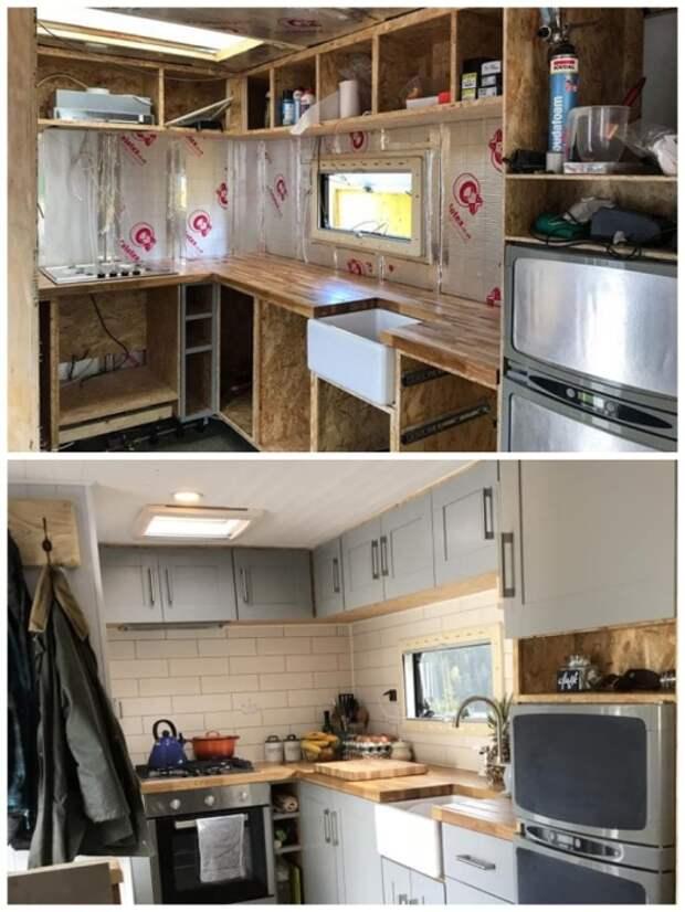 Кухня, созданная из натурального дерева своими руками выглядит просто великолепно. | Фото: pensandpatron.com.