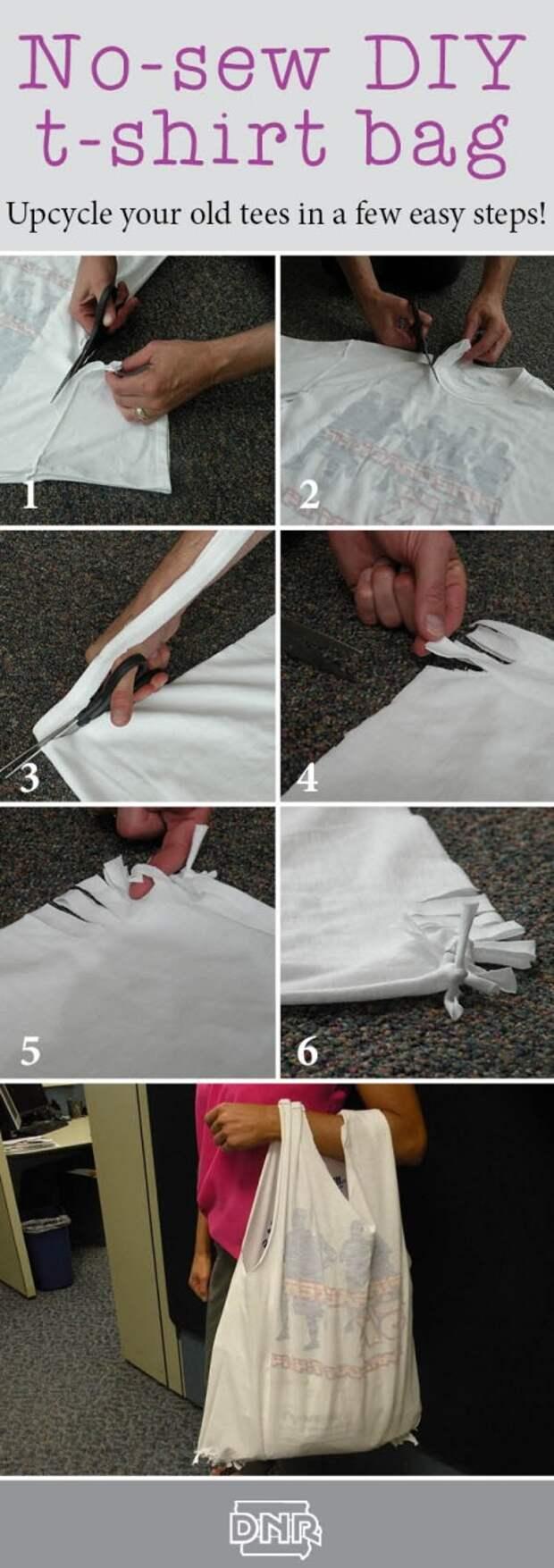 Сумки из футболок, без шитья (6diy)