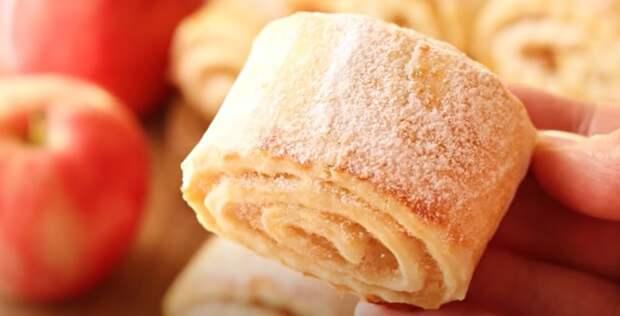 Рецепт печенья на кефире просят все подруги. Просто и вкусно с яблочной начинкой