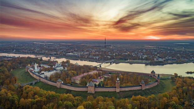 DjiMAvicMini | Великий Новгород с высоты птичьего полета