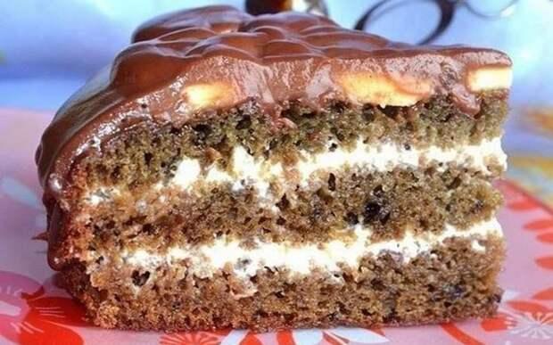 Торт на кефире с вареньем. Быстрый десерт 2