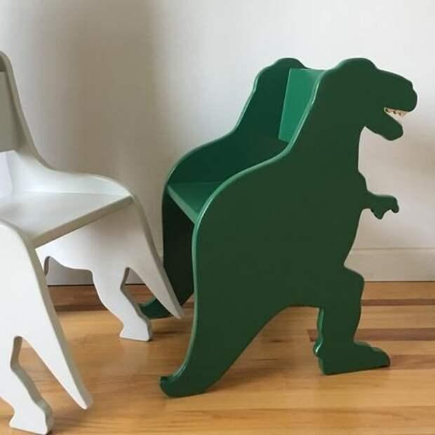 в виде динозавров полочки в детскую