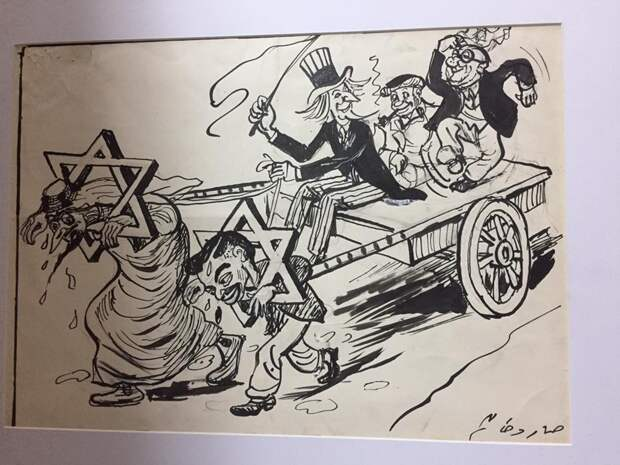 Сталин в египетской карикатуре