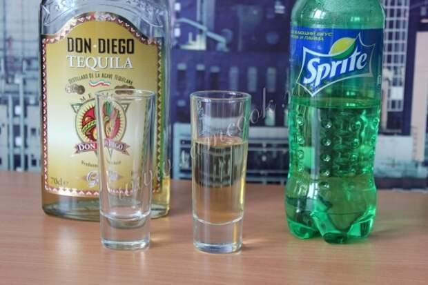 Спиртные напитки. Коктейль «Текила бум»