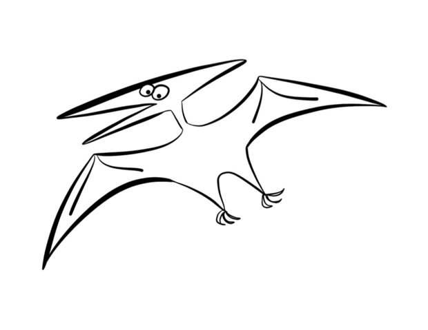 Как нарисовать динозавра быстро и просто