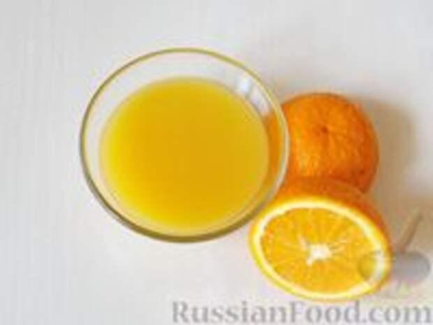 Фото приготовления рецепта: Медовик апельсиновый - шаг №7