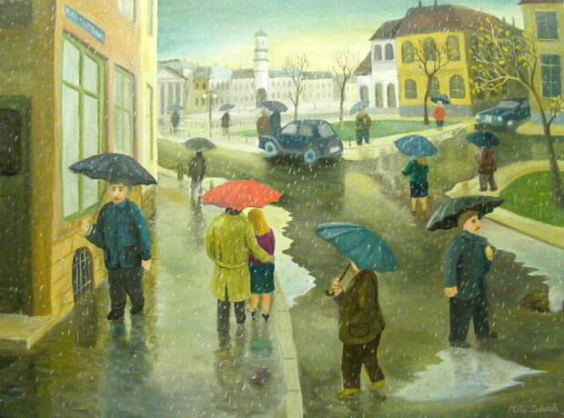 Забавные сценки из жизни на картинах румынского художника