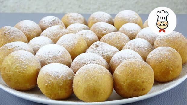 Фото к рецепту: Творожные пончики из детства