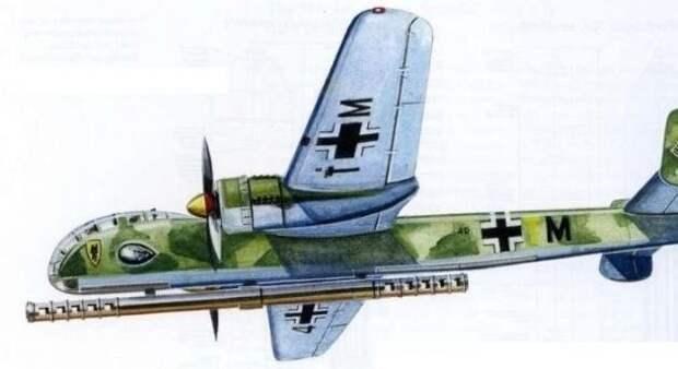 Самолет с пушкой, которому позавидовали бы линкоры.