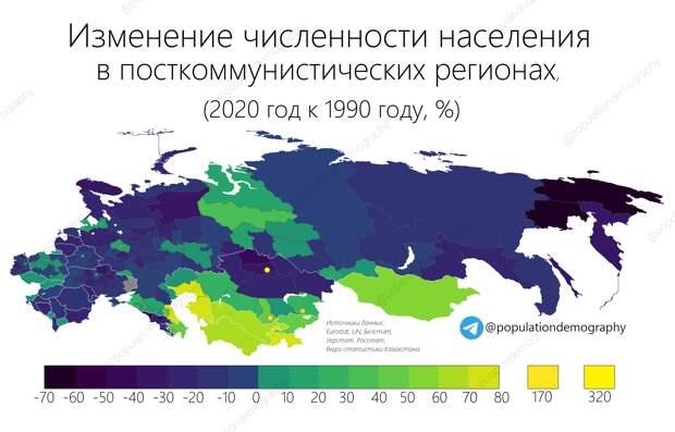 Посткоммунистическое население, невыгодный Китай и как рисуются географические карты