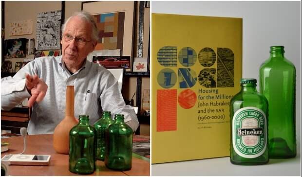 На разработку особенной бутылки-кирпича ушло целых 3 года (Heineken WOBO).