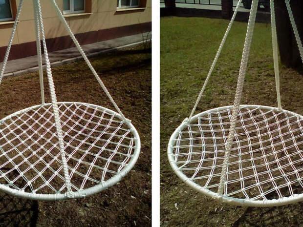 Плетем подвесное кресло-гамак