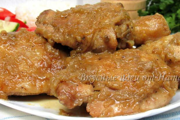 Фото к рецепту: Курица по-еврейски