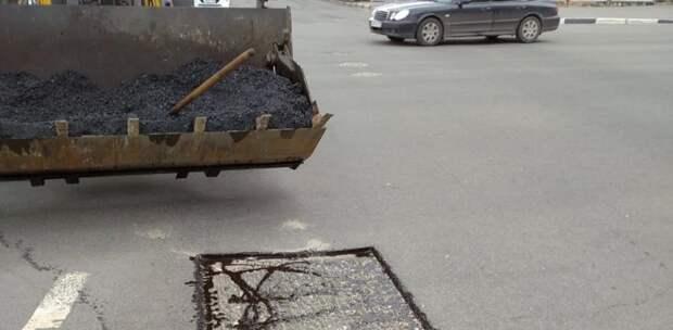 На улице Большая Покровская стартовал ямочный ремонт