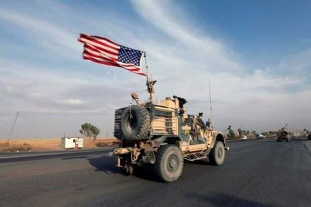 Колонна транспортных средств войск США в Эрбиле, Ирак, 21 октября 2019 года. REUTERS/Azad Lashkari