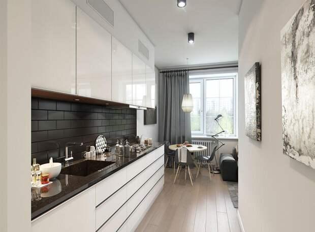Дизайн маленькой кухни 5 кв.м с холодильником: как сделать крохотное пространство комфортным (55 фото)