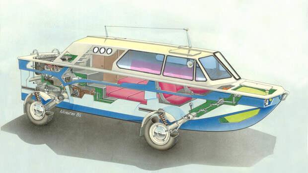 Советский автомобиль-амфибия, который построил музыкант