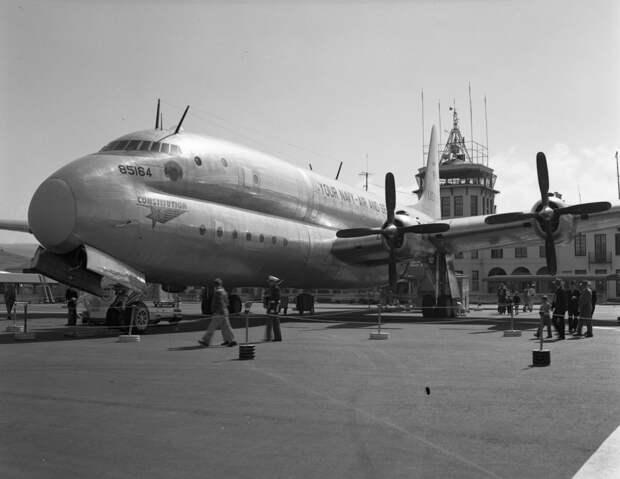 Lockheed R6V Constitution at SFO [Photo: Fly SFO]