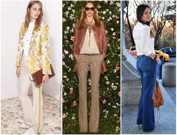 белая блузка мода 70-х