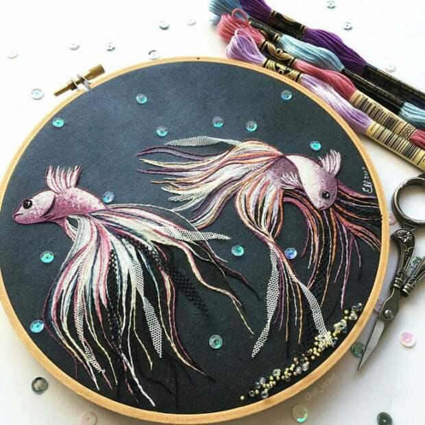 Потрясающе красивые вышивки  Ell Violet