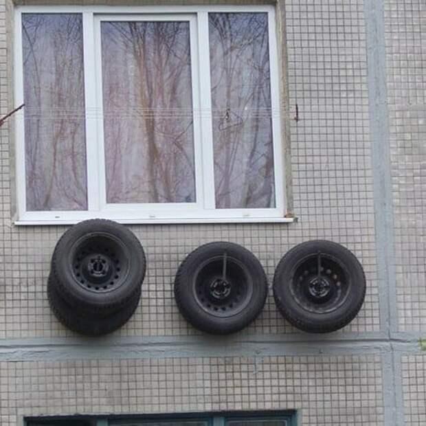 10. Когда балкона и гаража нет гении из народа, идиоты, народный умелец, оригиналы, прикол, смекалка, фото