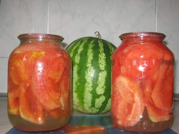 Обалденные консервированные арбуза на зиму без уксуса