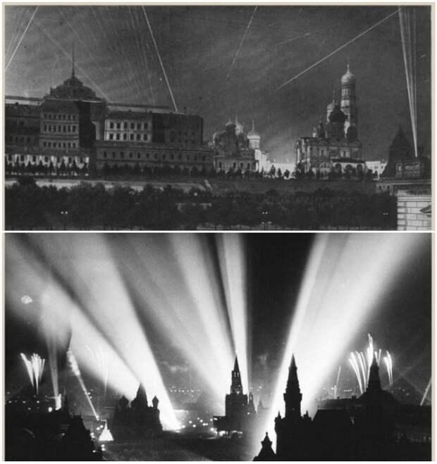 За годы войны Москву бомбили 141 раз, а Кремль всего лишь восемь.   Фото: pressa.tv.