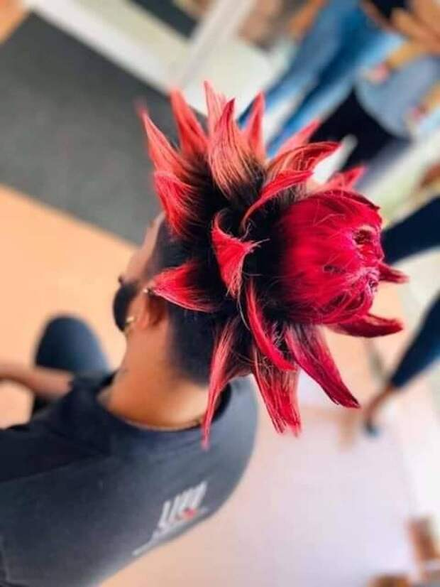 Красные волосы мужская прическа