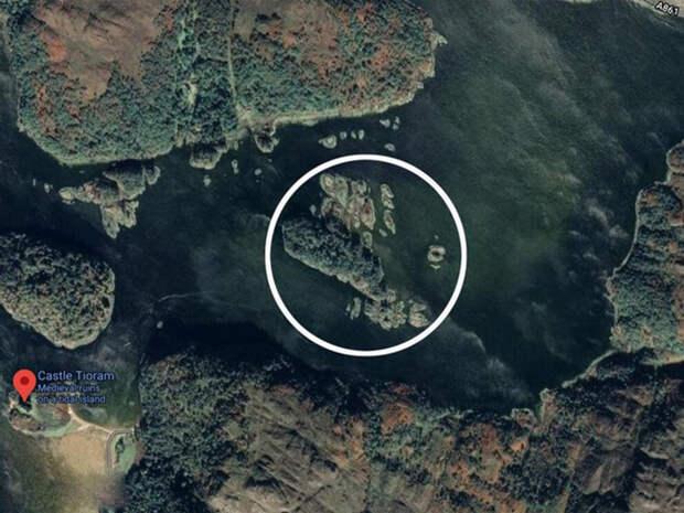 Расположение острова Дир.