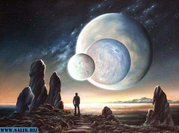 В Ведах говорится о том, что в древности было три луны над Землей