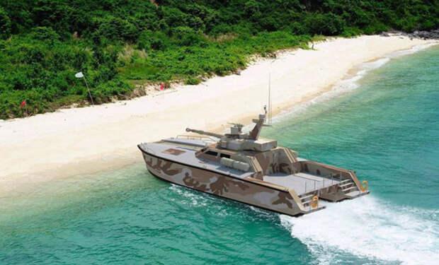Индонезия построила танк для воды, который плавает как лодка. Видео