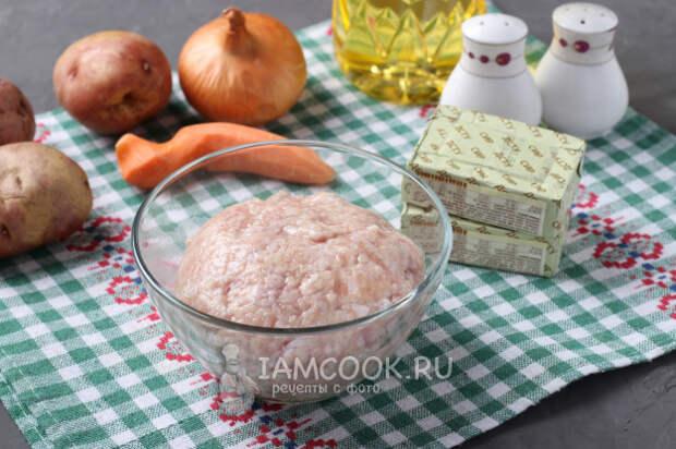 Сырный суп с куриными фрикадельками