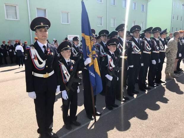 В Крыму «полицейские» кадеты выступили на республиканском параде кадетских и казачьих классов