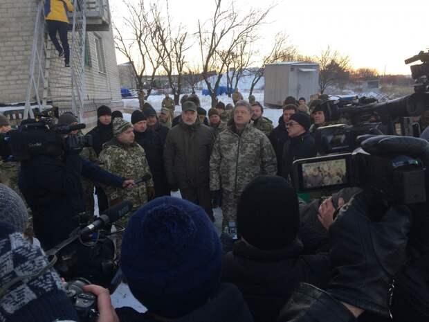 Порошенко открыл телевышку на горе Карачун для вещания на территорию ДНР