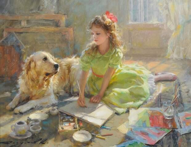 Дети в картинах Константина Разумова