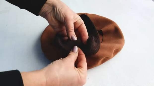 Как сшить элегантную шапку на осень из остатков ткани