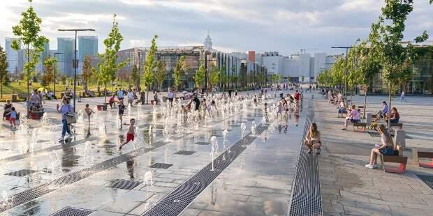 Световые фонтаны набирают популярность в Москве
