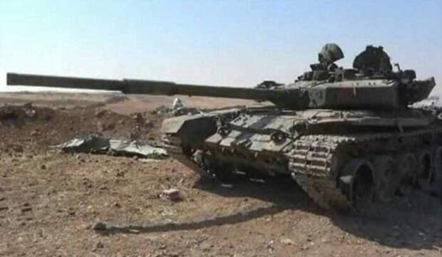 Турецкие боевики уничтожили танк Т-90 сирийской армии