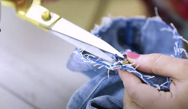 Простой способ подшить джинсы с сохранением фабричной варки