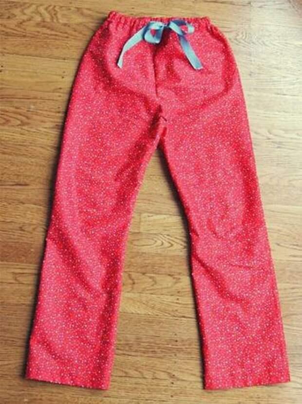 Выкройка пижамных брюк