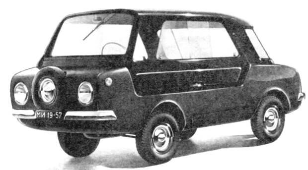 Экспериментальный Советский автомобиль с одной дверью и двигателем от мотоцикла, НАМИ А 50 Белка