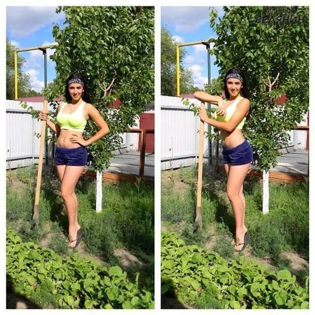 4. дача, дачница, девушка, лейка, лето, огород, отдых, природа