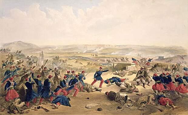Уильям Симпсон. Битва на Чёрной, 16 августа 1855