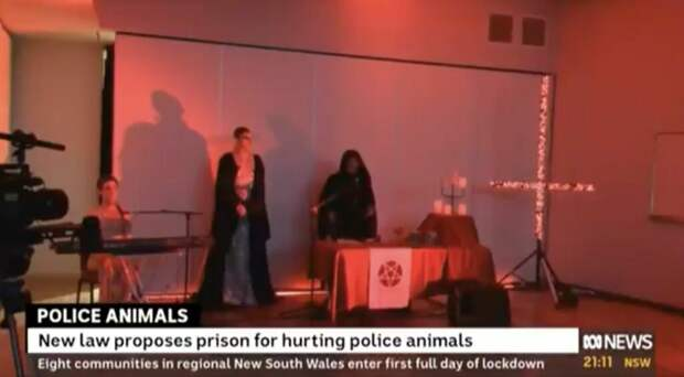 Эфир австралийского телеканала прервался церемонией поклонения сатане