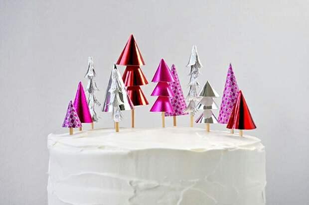 Новогодние торты с ёлками (2diy)