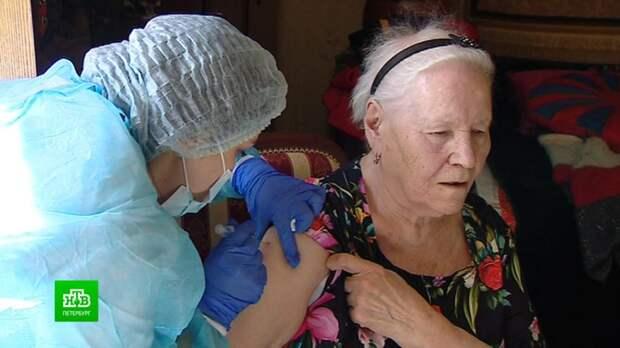 Пенсионеры, инвалиды, дачники: кого в Петербурге и области вакцинируют от коронавируса на дому