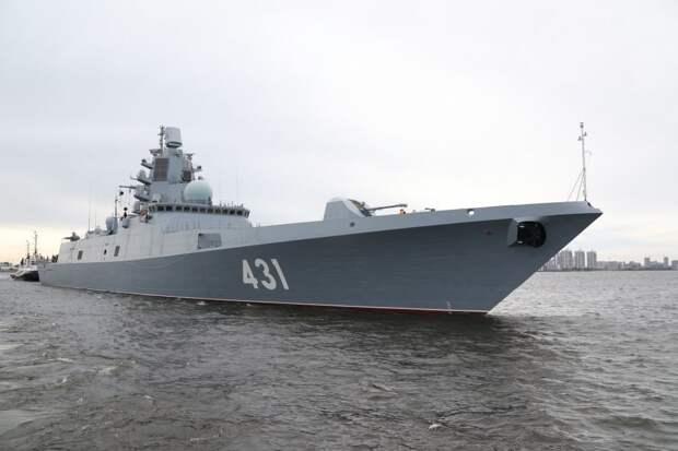 "На новом фрегате ""Адмирал Касатонов"" подняли Андреевский флаг"