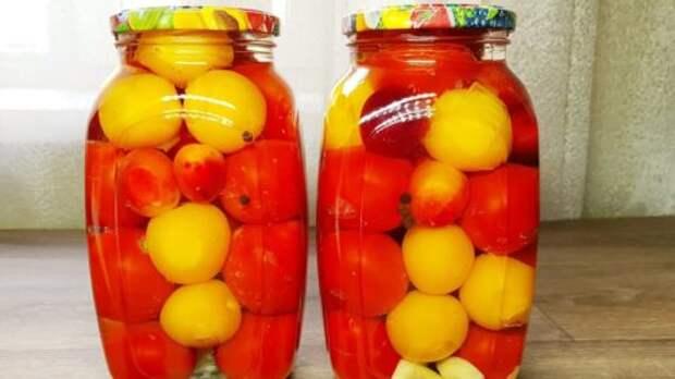 Рецепт вкуснейших маринованных помидорчиков на зиму. Даже маринад весь выпивается!