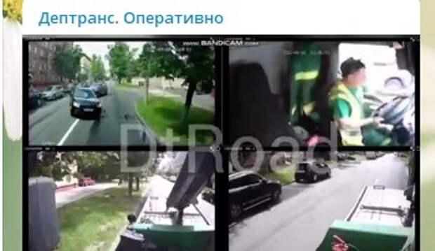 На Энергетической произошла авария с участием иномарок и эвакуатора