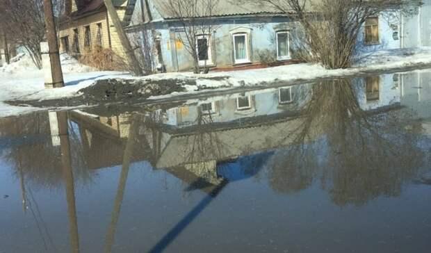 Оренбуржцы пожаловались на страшный гололед на улице Салмышской